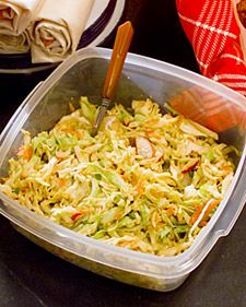 I want to accumulate a collection of new Recipes for summer salads and side dishes.  This one looks good.