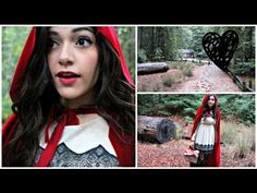 Little Red Riding Hood DIY Halloween Costume! + Make your own cape! - no sew (though you could)  (There's a bunch of other stuff in there - just skip through it)