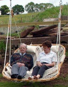 Vintage Macrame Hammock Swing Chair 1970s 70s Outdoor