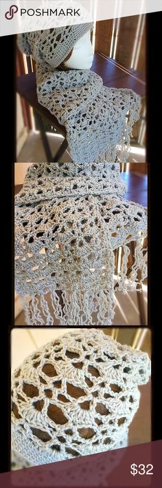 Woman's Lace Pattern Hat & Scarf Set Beautiful new fall/winter set ready to go. This is also a customizable item. Don't like the color? Custom order today! Takes up to 2 days to make and 1 day to ship. Amanda DePastino Accessories Scarves & Wraps
