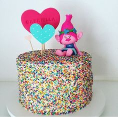 Trolls Birthday Party Cake Poppy Ideas For 2019 Homemade Birthday Cakes, Birthday Cupcakes, Trolls Birthday Party Ideas Cake, Mini Cupcakes, 3rd Birthday Parties, Birthday Fun, 2nd Birthday Cake Girl, Third Birthday, Princess Birthday
