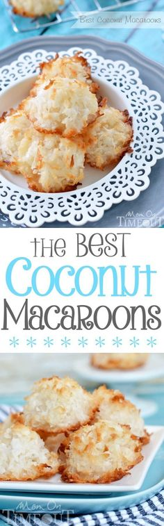 For the true coconut lovers out there - this is my all-time favorite recipe for the Best Coconut Macaroons!  Made without sweetened condensed milk, the delicate, sweet flavor of coconut really shines through.  Chewy on the inside and perfectly toasted on the outside, dry macaroons are a thing of the past