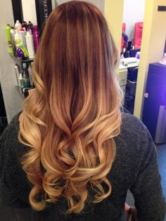 Red Ombre Hair!  Courtesy of Ame at Cosmic Beauty in Kapolei Hawaii!!!  I love my hair like this!