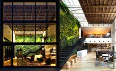 perfect precedent!! // Yoyogi Village in Tokyo Features a Lush Interior Vertical Garden