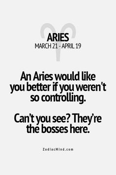 We don't really to take orders, that much is clear! #Aries