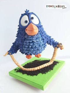 """""""For the Worm"""" Cake - Cake by Puckycakes Anti Gravity Cake, Gravity Defying Cake, Cupcakes, Cupcake Cakes, For The Birds Pixar, Worm Cake, Cake Structure, Art Disney, Sculpted Cakes"""