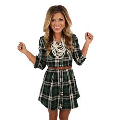 The only thing better than a flannel is a flirty flannel dress!