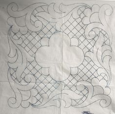 VINTAGE EMBROIDERY / QUILTING TRANSFER - CUSHION
