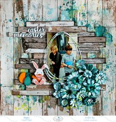 Easter layout ideas and inspiration can be found at Scrapbook.com. #scrapbookcom