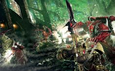 Horus Heresy: The First Heretic, cover art depicting possessed marines, among them may be Argel Tal attacking the watchful Custodes.
