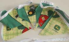Bunting, boys bunting featuring John Dere tractor fabric, great for bedroom and parties