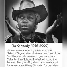 Flo Kennedy is Black History Facts, Black History Month, African American History, American Women, Native American, Black Pride, My Black Is Beautiful, Black Power, Black People