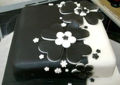 Black and white fruit cake