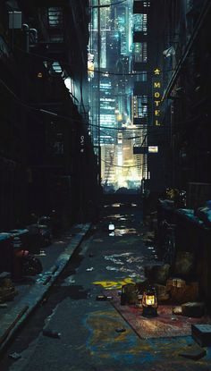 ArtStation - Cyber Punk Back Alley , James O'Brien (Vadim Ignatiev)