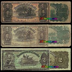 Canada banknotes: Canada paper money catalog and Canadian currency history Canadian Coins, Canadian History, Canadian Dollar, Rare Coins Worth Money, Valuable Coins, Animals Doing Funny Things, Winning Lottery Numbers, Money Notes, Money Worksheets
