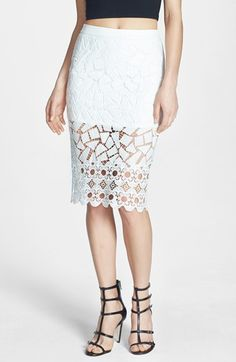 ASTR Illusion Lace Pencil Skirt available at #Nordstrom