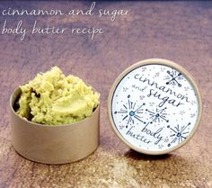 This cinnamon sugar homemade non-greasy body butter recipe combines vanilla, warm ginger, cinnamon and cardamom fragrance notes with a rich, moisturizing formula that melts into skin on contact and leaves skin feeling luxuriously soft and supple with a non-greasy feel once absorbed. These make wonderful homemade Christmas gifts.