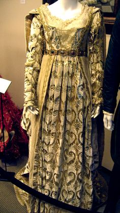 A Gown that Gweneth Paltrow wears as Viola, who is portraying Juliet, in the film Shakespear in Love.