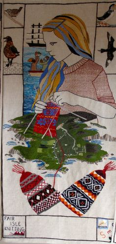 Fair Isle Knitting - from the Great Tapestry of Scotland.
