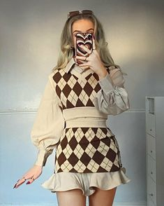 Preppy Outfits, Teen Fashion Outfits, Girly Outfits, Cute Casual Outfits, Cute Fashion, Look Fashion, Korean Fashion, Womens Fashion, Fashion Design