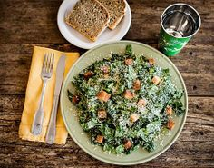 The organic kale Caesar salad at Ojai, California's The Farmer and The Cook.