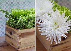 Floral arranging- so relaxing.  Love the grain in the wood  and dove tailing on the box as well.