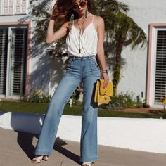 Bodysuit + Jeans+ Bag Worn once, except bodysuit worn several times. Size 24 jeans, Small bodysuit. Jeans Flare & Wide Leg