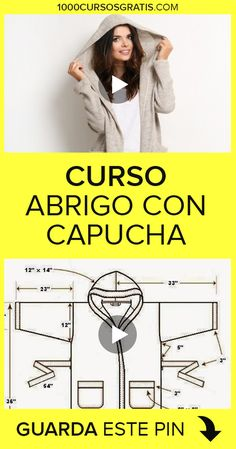 Pin on Costura Cape Coat, Pattern Cutting, Jacket Pattern, Dress Sewing Patterns, Sewing Techniques, Sewing Clothes, Sewing Tutorials, Couture, Diy Fashion