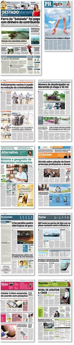 Rediseño del diario O Estado Maranhão, Maranhão, Brasil. Trabajo realizado para Estudi Cases.