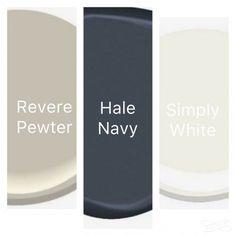 trendy exterior paint colors for house trim revere pewter Exterior Shutter Colors, Exterior Paint Colors For House, Bedroom Paint Colors, Paint Colors For Home, Exterior Shutters, Navy Shutters, Stucco Exterior, Wall Exterior, Paint Colours