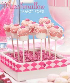 Marshmellow pop treats..
