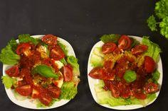Das Rezept für Marinierter Mozzarella auf Linsen-Paprika-Salat mit allen nötigen Zutaten und der einfachsten Zubereitung - gesund kochen mit FIT FOR FUN