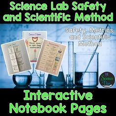 Bring engaging and interactive activities into your classroom with these science notebook pages. This resource contains 20 different interactive notebook activities covering safety, metrics, and the scientific method. Science Resources, Science Lessons, Science Education, Teaching Science, Interactive Activities, Physical Science, Life Science, Science Experiments, Teaching Resources