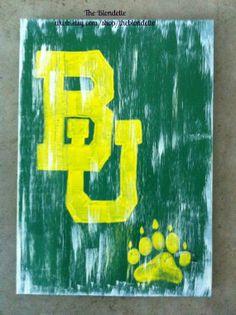 Baylor Bears. Baylor University. Wooden Sign. by TheBlondette, $28.00