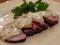 Roast Beef Tenderloin with Remoulade Sauce : Laura Calder Tenderloin Cooking Time: 12 for lb, the 10 mins for each additional Oven 400 degrees Best Roast Beef Recipe, Roast Beef Recipes, Entree Recipes, Sauce Recipes, Cooking Recipes, What's Cooking, Cooking Time, French Food At Home, Frango Chicken