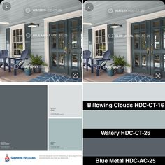 The closest pallet of color combination for exterior house paint. Exterior House Colors Combinations, Exterior Color Palette, House Exterior Color Schemes, Exterior Paint Colors For House, Paint Colors For Home, Best Exterior Paint, Outdoor House Paint, Outdoor Paint Colors, Farmhouse Exterior Colors