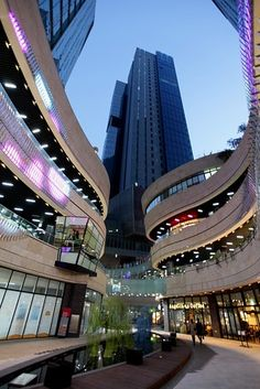 Hapjeong, a neighborhood in Seoul, South Korea, has undergone a property boom in the last three years. One glittery symbol of Hapjeong's ascent is Mecenatpolis. Located in the middle of the district, the development completed last June is less an apartment complex than a city, with three 39-story luxury apartment buildings, one 32-story office tower, a park, an event auditorium, an art center, a shopping mall and diners. Shown here is Mecenatpolis.