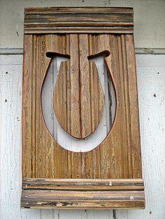 Reclaimed Wood Art Horseshoe Equestrian Decor Rustic by woodenaht, $28.00