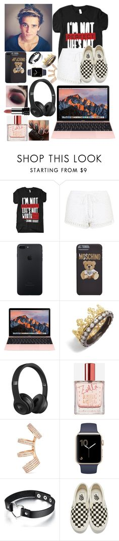 """""""why is he so perfect"""" by life-is-dead ❤ liked on Polyvore featuring Topshop, Moschino, Armenta, Beats by Dr. Dre, Zoella Beauty, Repossi, CENA, Vans and Kat Von D"""