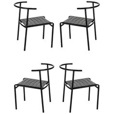 Philippe Starck for Cerruti Baleri Italia Café Chairs, Set of Four   From a unique collection of antique and modern chairs at https://www.1stdibs.com/furniture/seating/chairs/