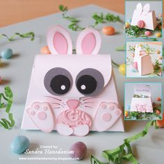Cute Bunny made with Stampin'Up's purse die from Sizzix... love this little purse and it hides candy inside...