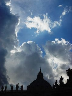 Saints in the clouds ...by Tony Karp