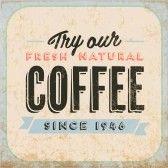 Retro Vintage Café Cartel de chapa con Tipografía y Efecto Grunge stock photography