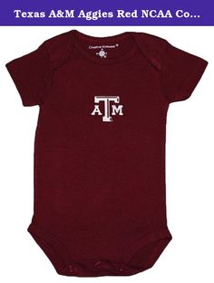 Texas A&M Aggies Red NCAA College Newborn Infant Baby Creeper (12 Months ). Creative Knitwear NCAA College Newborn Baby Creepers. Superior Quality three snaps for easy diaper changes. Officially licensed baby clothing by NCAA. Machine wash, tumble dry. 100% cotton.