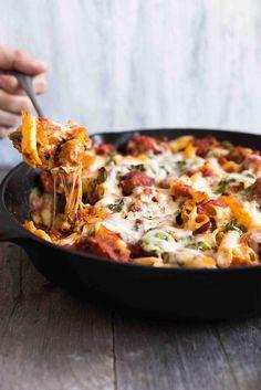 Skillet Pasta with Chicken Sausage, Cheese & Spinach