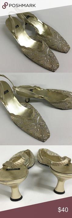 "Stuart Weitzman lacy sandals Gorgeous sandals lightly worn in great shape low heels no damage 1/12"" perfect for wedding or event Stuart Weitzman Shoes Sandals"