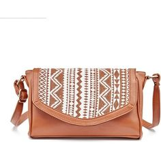Olivia Miller Willow Crossbody Bag ($41) ❤ liked on Polyvore featuring bags, handbags, shoulder bags, brown oth, handbags crossbody, brown crossbody, shoulder handbags, white purse and purse crossbody