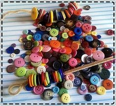 button snakes (made with buttons and pipe cleaners)