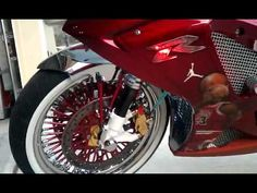 Michael Jordan GSXR This bike has way too much done to it. But it has some good ideas. Custom Sport Bikes, Gsxr 1000, Suzuki Gsx, Michael Jordan, Bikers, Atv, Motorcycles, Jordans, Classic