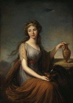 Portrait of Anna Pitt as Hebe, 1792, by Élizabeth Louise Vigée-Lebrun